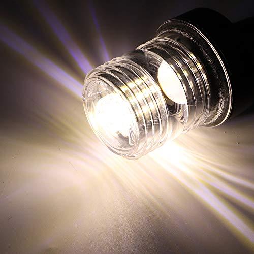 KAKAKE Ankerlicht, Navigationslampe Langlebige UV-beständige Kunststofflinse für Segelsicherheit(12 inches, Pisa Leaning Tower Type)