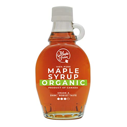 MapleFarm - Pur Sirop d'érable BIO Catégorie A, Foncé - goût robuste - 189 ml (250 g) - Organic maple syrup - Grade A - Dark, robust taste - Sirop d'érable biologique - Pancake sirop