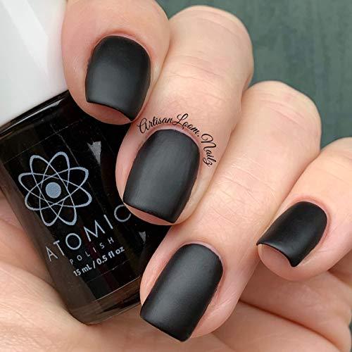 Matte Black Nail Polish - Atomic Polish - Carbon (C) Matte