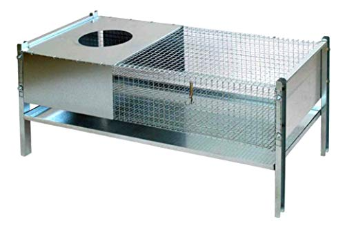 Waidjagd präsentiert Heka Kükenaufzuchtbox aus Metall, 100x46x57cm, für ~50 Küken, Kükenaufzucht
