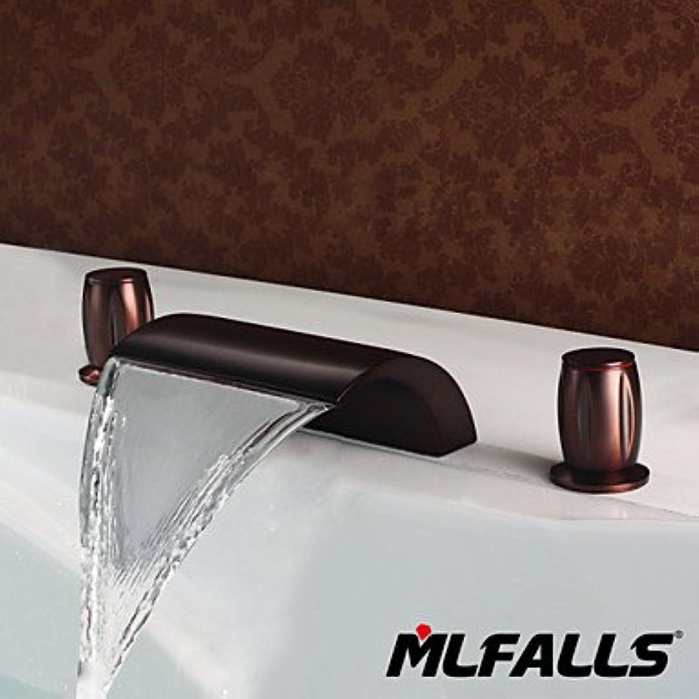 HZZymj-Badezimmer Zubehr l Messing Kupfer Wasserfall Belag installiert Dusche Waschtischmischer