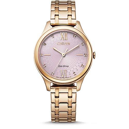 CITIZEN Reloj Analógico para Mujer de Eco-Drive con Correa en Acero Inoxidable EM0503-75X