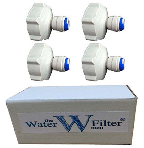 4 x 3/10,2 cm BSP à 1/10,2 cm Raccord Connecteur Robinet de jardin type de connecteur pour les aquariums de plomberie, Osmose Inverse, l'eau Filtre pour l'eau