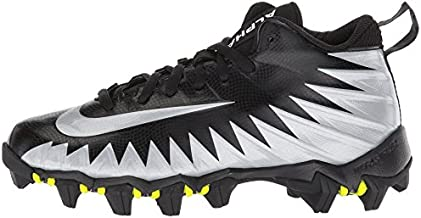 Nike Kid's Alpha Menace Shark BG Football Cleats (5.5 M US Big Kid, Black/White/Metallic Silver)