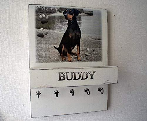 Personalisierte Hundegarderobe, Leinengarderobe, mit persönlichem Foto und Namen