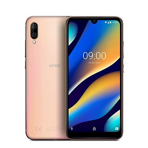 "WIKO View3 Lite - Smartphone de 6,09"" HD+ IPS (Cámara Dual, 4000mAh para 2 días de autonomía, Octa-Core 1.6 GHz, 32GB de ROM, 2GB RAM, Android 9, Dual SIM) (Blush Gold)"