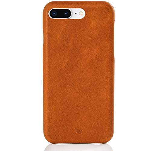 BULLAZO Menor Classic, Edle Hülle aus Leder, Kompatibel mit iPhone 8 Plus, Cognac