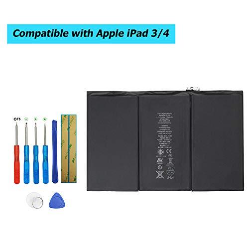 Upplus A1389 vervangende accu compatibel voor iPad 3 A1416, A1430 & iPad 4 A1458, A1459, A1460 616-0586, 616-0591, 616-0592, 616-0593, 616-0604 met Toolkit