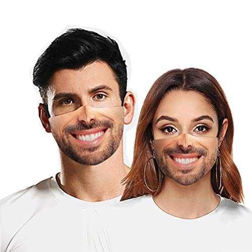 Tounuta Funny Expression Happy Mood Printed Themed Face Mask Reusable Cotton Mouth Masks Men Women Outdoors Cycling Camping Mask