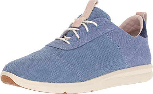 TOMS Cabrillo Infinity Blue Textured Velour Mix 8.5 B (M)
