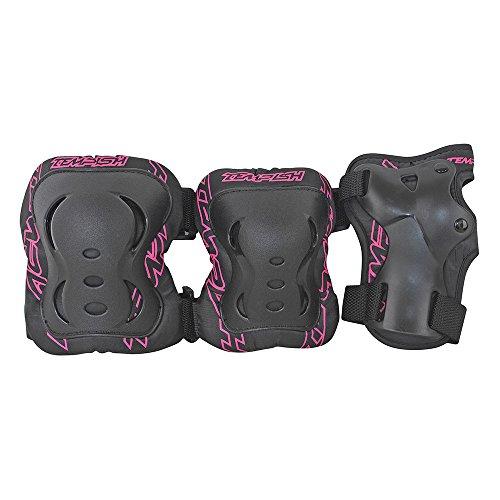 TEMPISH Erwachsene FID Handgelenk, Knie-Und Ellbogenschützer Universelles 3-teiliges Schutz-Set Für Kinder, pink, M