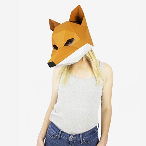 Máscara Zorro | Máscaras Animales | DIY Disfraces
