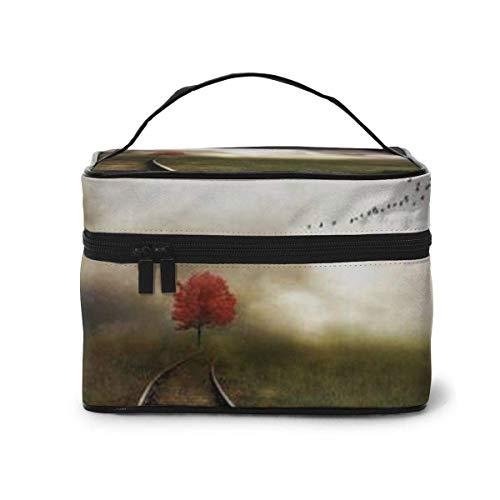 Train Track Travel Makeup Train Case Makeup Cosmetic Case Organizer Portable Artist Storage Bag