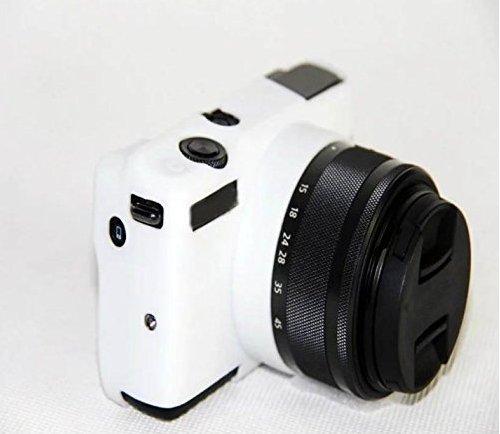 Hihouse Funda de Cámara Deportivas Caja de Protección de Silicona Suave Para Canon EOS M10 (blanco)