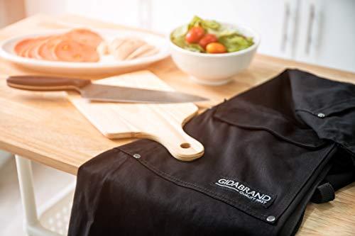 Gidabrand Professional Grade Chef de cuisine Tablier avec double boucle de...