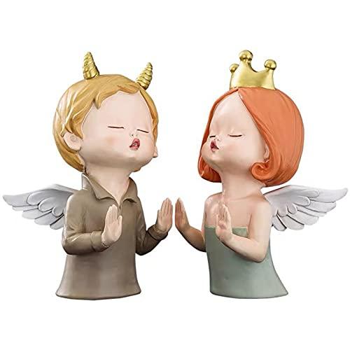 QJN Ángel libro termina creativo pareja ángel multifuncional libro confiando para niños regalo decoración sujetalibros