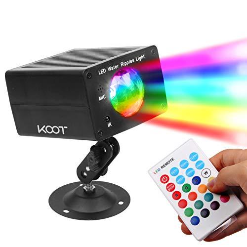 KOOT LED Disco Licht Wasser Kräuselung Beleuchtung-16 Farben Party Licht DJ Licht Bühnenlicht Wasser Effekt Mit Ton Aktivierten Fernbedienung Beste für Partei Kindergeburtstag