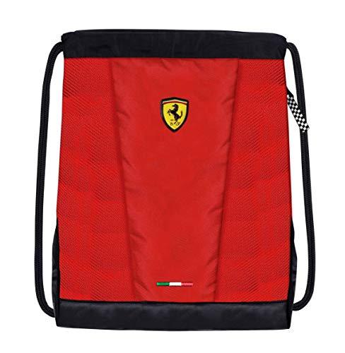 Ferrari - Mochila con cordón oficial de la escudería, color rojo rojo