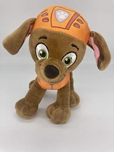 Dinotoys Peluche de la Patrulla Canina de peluche para niños, figuras de cachorro, 19 cm, Chase Marschall Rocky Rubble Sky Zuma