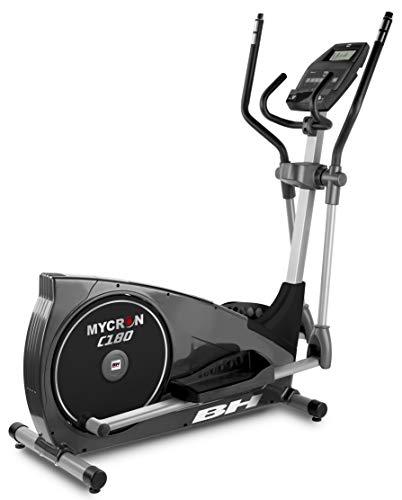 BH Fitness Mycron C180 G2382UMP. Bicicleta eliptica magnetica. Sistema inercial 18 Kg. Zancada 46 cm. Dist. Entre Pedales 19 cm. Compatible con Dual Kit