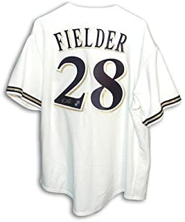 Autographed Prince Fielder Milwaukee Brewers White Majestic Jersey - COA Included Signature