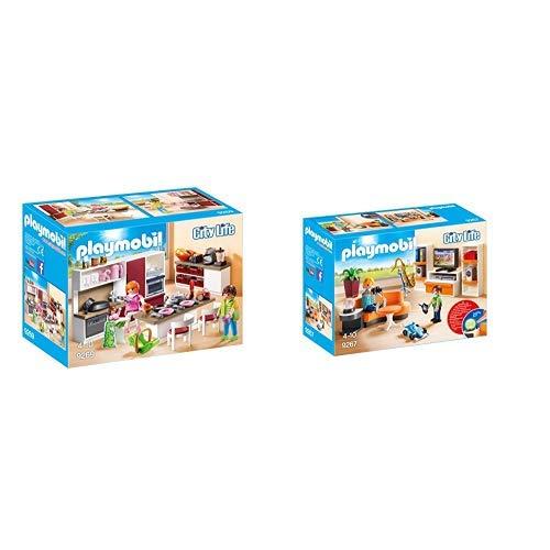 Playmobil 9269 - Große Familienküche & 9267 - Wohnzimmer