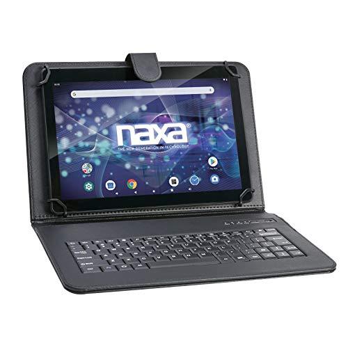 "NAXA Electronics NID-1052 10.1"" Full HD Android 9.0 Tablet with Bluetooth Keyboard & Keyboard Case, Black"