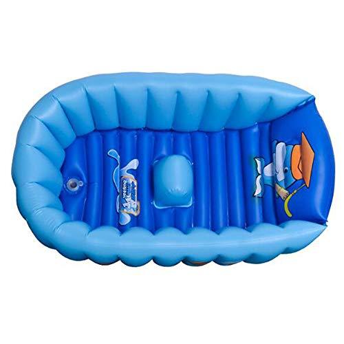 HWZZ 90 * 55 * 30 CM Bébé Piscine Enfant Été Enfant Jouets d'eau Baignoire Gonflable Bel Animal Imprimé,Bleu