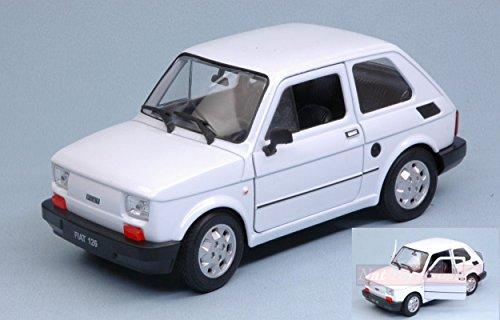NEW Welly WE24066W Fiat 126 1973 White 1:24-27 MODELLINO Die Cast Model