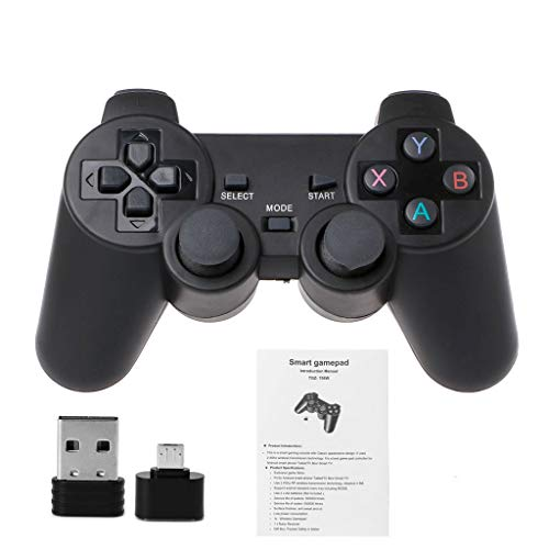JLBao TPS3 Android TV móvil JimTw-FR 2.4G Controlador de Juegos inalámbrico + Adaptador Micro USB OTG Controlador de Juegos Profesional
