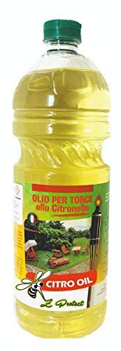 Cura Farma Olio alla Citronella per Torcia Fiaccola 3Lt Scaccia Repellente Zanzare Lampade di Mefra - Originale