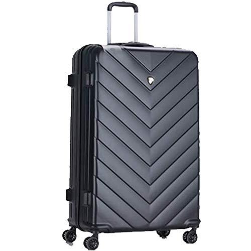 New Eagle - Maleta de Viaje con 4 Ruedas incorporadas y Cierre TSA Negro Negro XL 32'