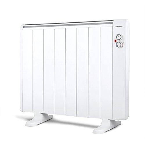 Orbegozo RRM 1510  A – Emisor térmico sin aceite, 8 elementos, 1500 W, 2 niveles de potencia, color blanco