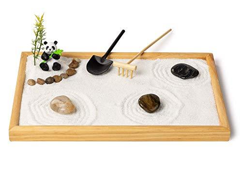 Zen Garden with Panda - Relaxation & Meditation Gift - 12x8 Inches Large - Premium Japanese Zen...