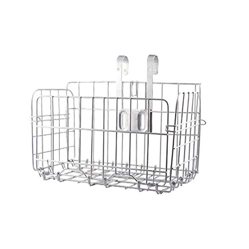 PHLPS Basket Mesh Fold-Up Rear Hanging Bike Basket Bicycle Wire Mesh Fold-Up Rear Hanging Bike Basket Bicycle Bag Cargo Rack for Mountain Bike Accessories (Color : White)