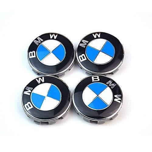 Jlanna 4X Nabenkappen Felgendeckel Radnabendeckel für BMW, Nabendeckel 68mm Felgenkappen für BMW Felgen Wheel Centre hub caps