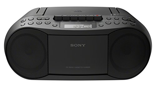 Sony Stereo CD/Cassette Boombox Home Audio Radio, Black (CFDS70BLK), 13.7 x 6.1 x 9 inches