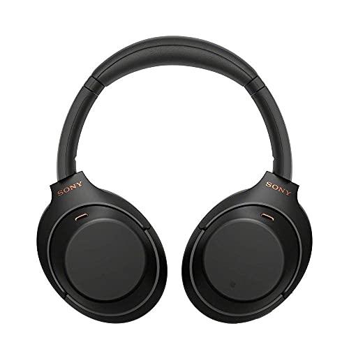 Sony WH1000XM4  Casque Bluetooth à réduction de bruit sans fil, 30 heures d'autonomie, avec micro pour appels téléphoniques, optimisé pour Amazon Alexa et Google assistant, Noir