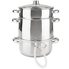 Jus de vapeur d'eau d'induction d'Arebos | convient pour tous les types de cuisinières | Ø 26cm / 15 L