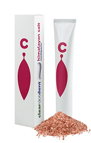 ClearDOT DENT Himalayan Salt Toothpaste - All Natural Fluoride Free Paraben Free, Removes Plaque and Freshens Breath, Prevents Tooth Decay and Bleeding Gums, Perfect for Sensitive Teeth