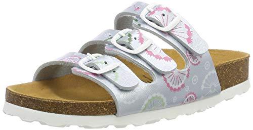 Lico Bioline Flower Kids Mädchen Niedrige Hausschuhe, Mint, 27 EU