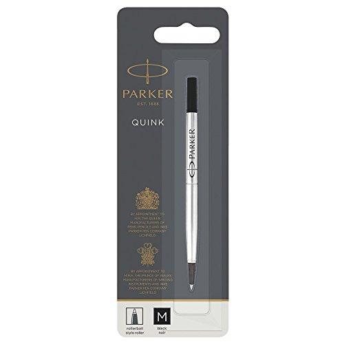 PARKER QUINK Rollerball Pen Ink Refill, Medium, Black