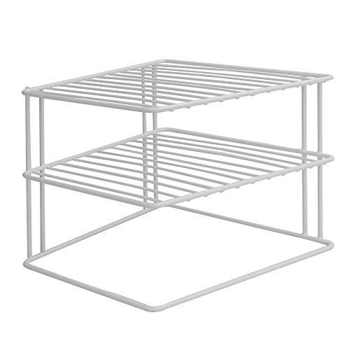 Estante de cocina de dos niveles | Organizador de espacio de cocina | Estante ahorra espacio | Estantes para platos y sartenes | M&W