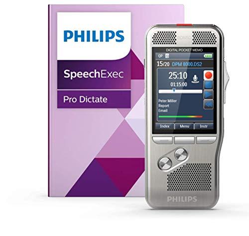 Philips Pocket Memo Diktiergerät DPM8000 inkl. Spracherkennung