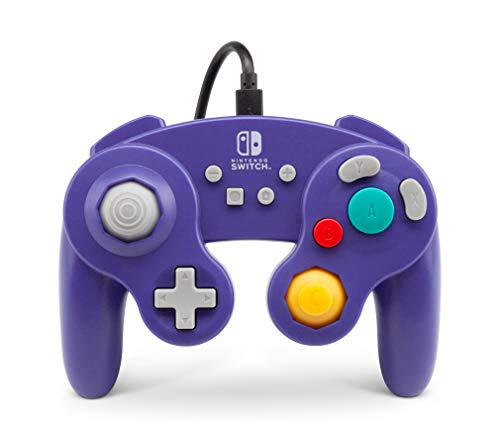 Mando Con Cable Estilo Gamecub, Morado (Nintendo Switch)