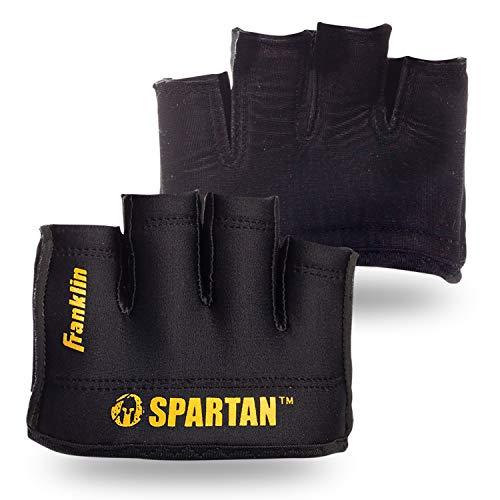 Franklin Sports Spartan Race Minimalist Premium OCR Glove Pair, Black/Gold - Adult Medium