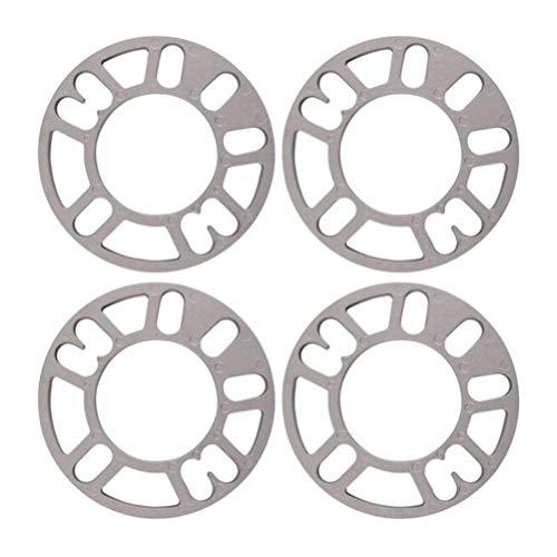 Garneck Distanziali Ruote universali 4 Pezzi in Lega di Alluminio distanziali perni distanziatori 4 e 5 per Auto Auto universali Spessore 8mm