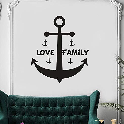 Tianpengyuanshuai patroon vinyl muurtattoos Home woonkamer decoratie nautische muursticker zeilen stijl poster