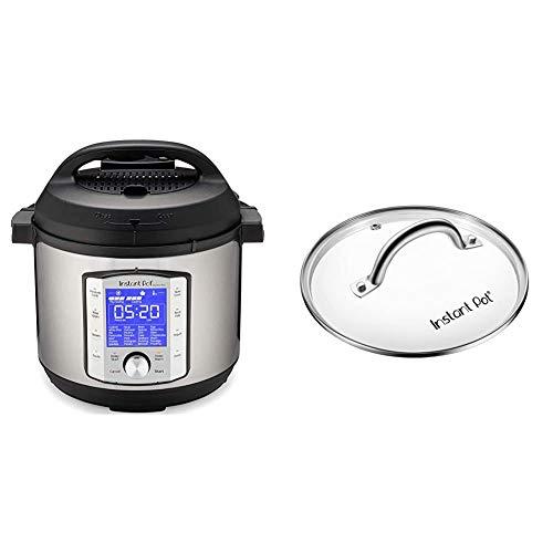 Instant Pot Duo Evo Plus 9-in-1 Electric Pressure Cooker, Sterilizer, Slow Cooker, Rice Cooker, Grain Maker, 6 Quart, 10 Programs & Tempered Glass Lid, 9 in. (23 cm)