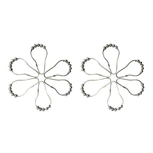 Fgdjfh Metall Duschvorhang Haken Kürbis geformte Perlen Rust Haken Zubehör für das Badezimmer Fünf Perlen Gourd Hooks